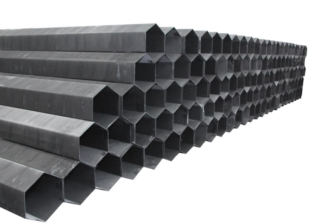 山東玻璃鋼阻燃管束生產廠家-玻璃鋼六角陽極管制造吊裝