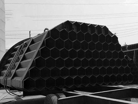 供应湿电除尘配件玻璃钢六角管-阳极导电六角蜂窝厂家销售